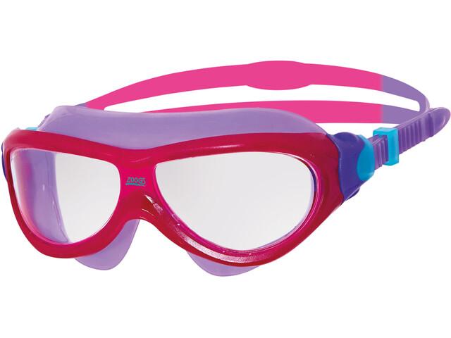 Zoggs Phantom Mask Junior Pink/Purple/Clear